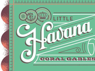 Havana Cigars! cigar typography type packaging miami beach florida