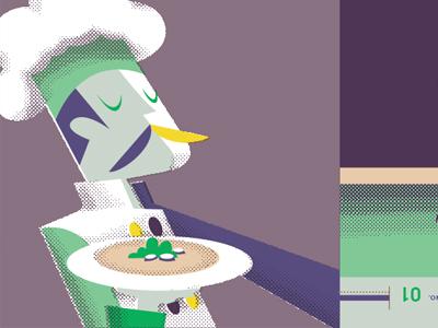 Chef  paper promo chef illustration food stache mustache