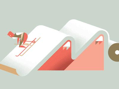 More paper promo paper skiing ski mountain