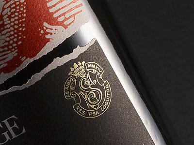 Foil! label wine packaging foil stamp foil stamping