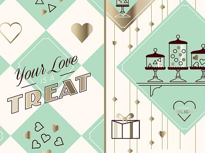 Valentine Chocolate II script typography type design illustration valentine heart valentines day chocolate