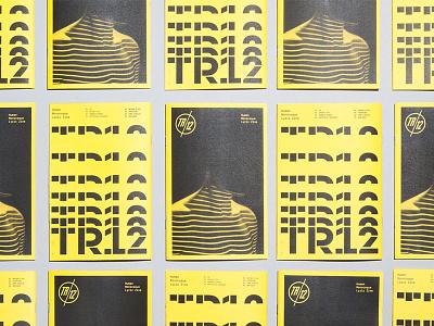 TR12 ZIne logo branding type editorial typography fanzine zine
