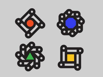 Morphing Logo Icons icon logotype logo brand idesntity branding