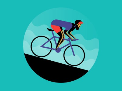Angry Cyclist fixed gear fixie messenger bike illustration cyclist bicycle