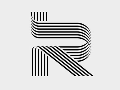 Just an R letter alphabet typography type