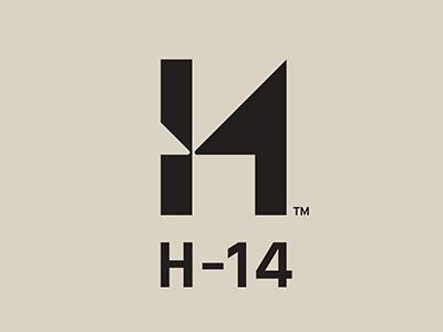 H-14 Branding typography logo identity brand branding
