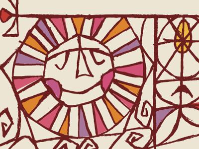 Sun dribbble