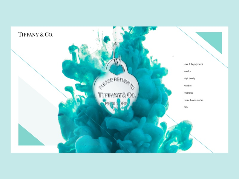 dceea0d83 Tiffany & Co. Landing Page Redesign menu clothing fashion necklace tiffany  co. tiffany blue