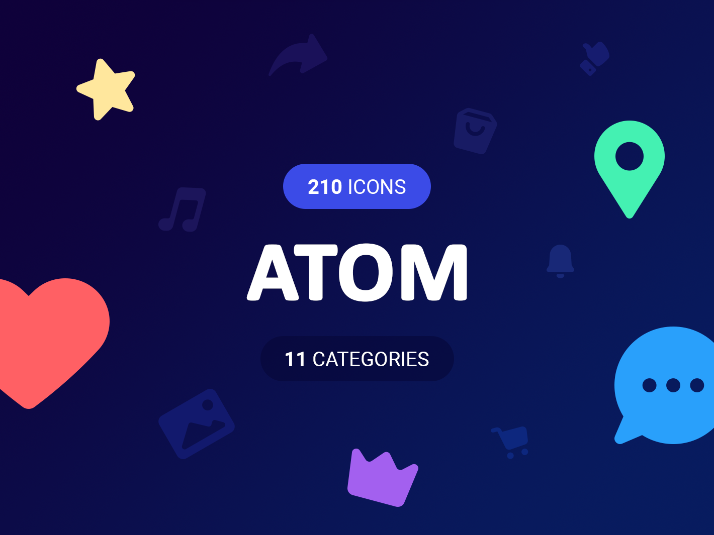 ATOM Icons mousecrafted web photoshop adobe sketch illustration icon app vector ux logo icons ui template branding resource design
