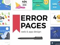 Error pages - web & mobile design