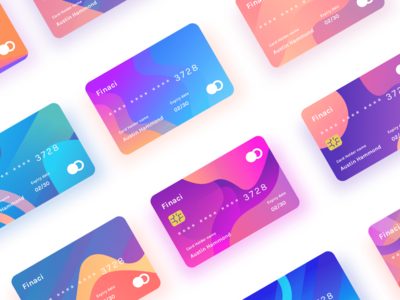 Finaci Financial debit/credit ui card figma adobexd website photoshop illustration color gradient font app vector adobe sketch ux mousecrafted typography ui template branding resource design