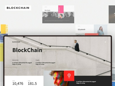 BLOCKCHAIN Powerpoint Template kit icons font photoshop illustration app adobe vector sketch ux ui typography mousecrafted template branding resource powerpoint design pitch powerpoint design