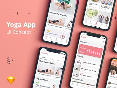 Yoga Fitness App UI Kit