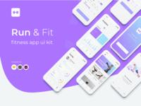 Run & Fit Fitness App UI Kit