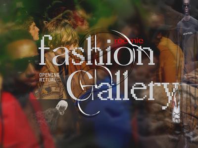 Roomie Fashion Gallery fashion brand underground contemporary typogaphy graphic design website art direction artwork logo fashion art web typography ux ui branding design