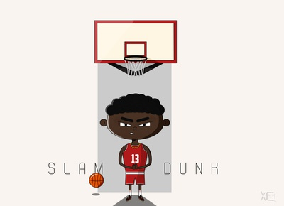 Basketball player ypixo illustrator illustraion anger sport basketball