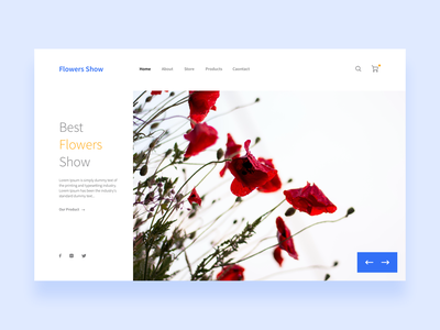 Flowers Show landing page concept colorful web illustration ui ux design clean flat icons graphics flowers dubai flowershop creative flowers