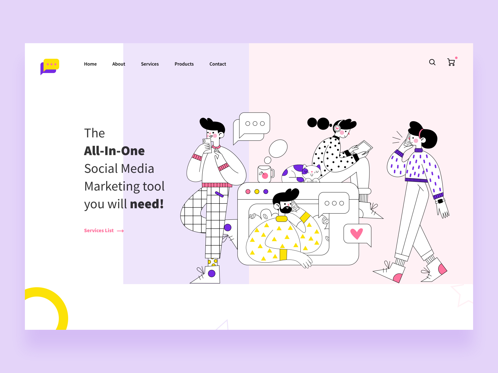 Smm Rock Landing Page Concept By Osama Dawood On Dribbble