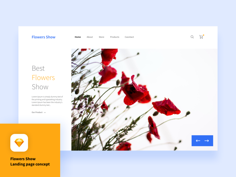 Freebie flowers show landing page concept sketch freesketch animations animation freelancer freelance freebie-friday freebie sketch freebies download colorful flat web illustration ux ui design clean free freebie