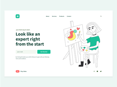 UPII landing page concept. website design webdesign web design website freebies freelance fashion font freebie free sketch corporate colorful flat web illustration ux ui design clean