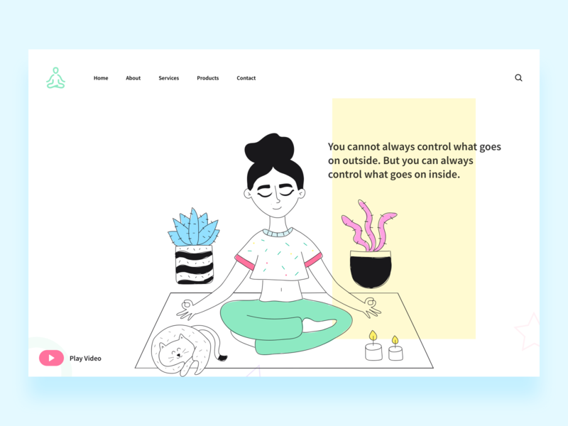 Yoga day landing page concept. freebie free illustrations illustration art illustrator illustraion web design webdesign website design website startup corporate colorful flat web illustration ui ux design clean