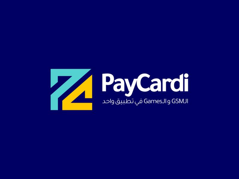 PayCardi App Logo Design app design illustraion game logo games logo games game blue arabic app corporate startup colorful web ux illustration flat design ui clean