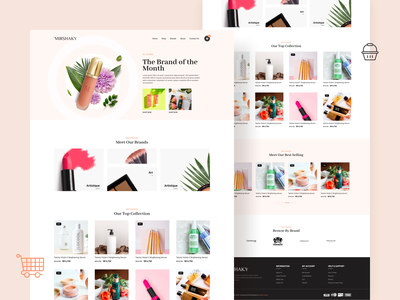 MIRSHAKY - Leaders of Beauty & Health Products standard in MENA online store online shop web design website elegant product beauty shop ecommerce ux branding sketch colorful web illustration flat design ui clean