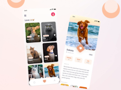 LuckyPet E-Commerce Mobile App - More Edits ecommerce app ecommerce branding app modern mobile app design mobile app mobile cat dog illustrator illustration animation minimal video ux flat design ui clean