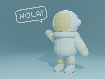 Hola 👋  🛰️ blender3d 3d blender logo branding vector ux illustration ui design clean