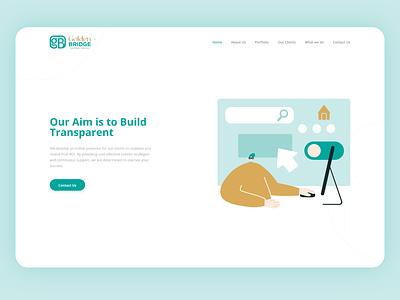 Golden Bridge 🌉 Website sketch startup colorful digital marketing logo branding vector web illustration flat ux design ui clean