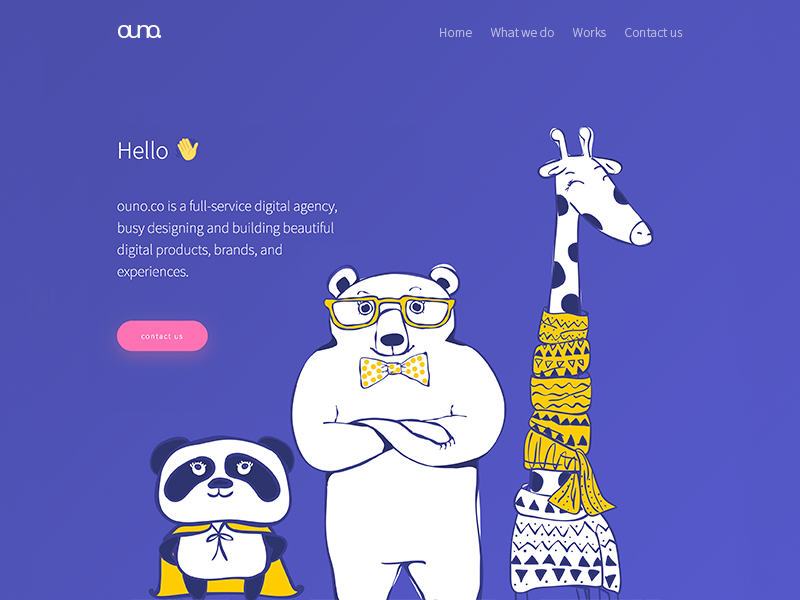 ouno.co New Design web ux ui startup sketch responsive illustration flat design corporate colorful clean