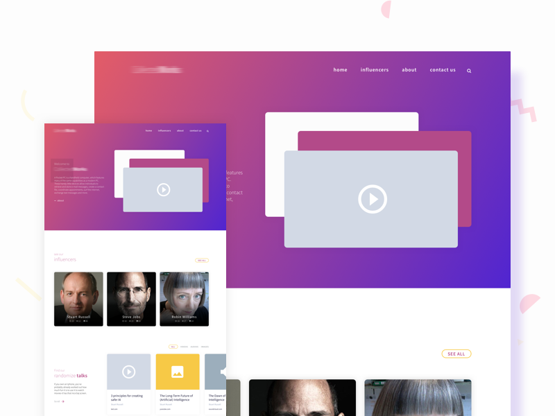 CW New Design Concept web ux ui startup sketch responsive illustration flat design corporate colorful clean