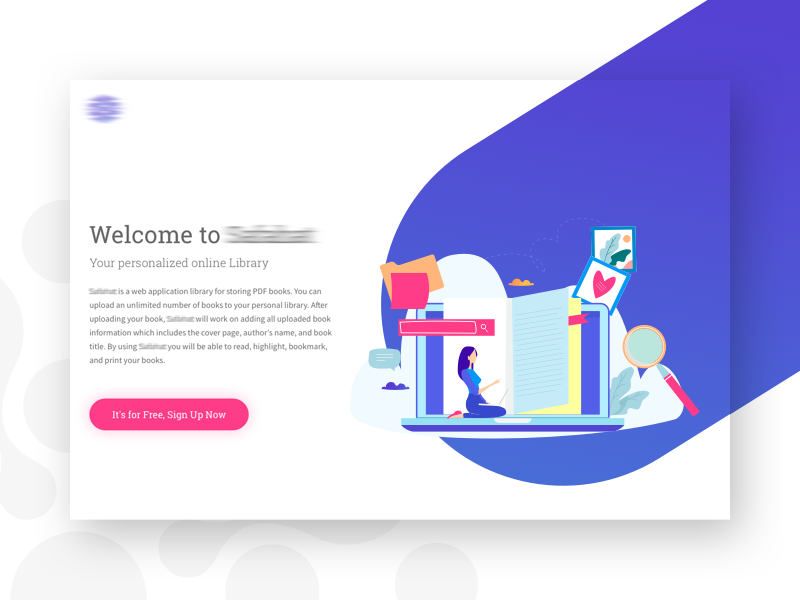 SF Book Library Website web ux ui startup sketch responsive illustration flat design corporate colorful clean