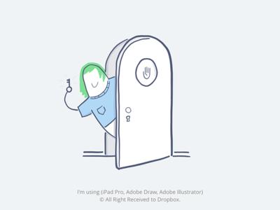 Dropbox Illustration Dribbble