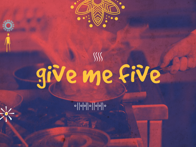 Give Me Five Website wordpress web ux ui page illustration flat first shot design corporate colorful clean