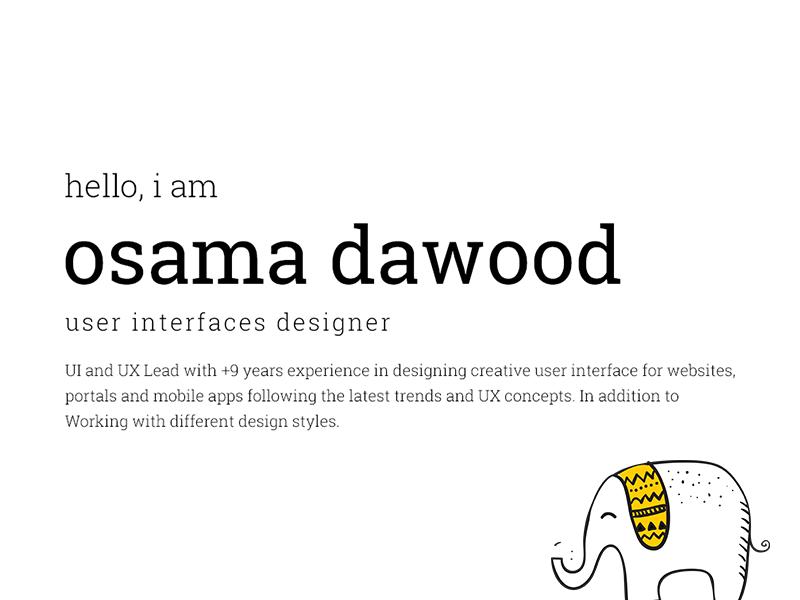 Osama's Website wordpress web ux ui freelancer illustration shot first design freelance colorful clean