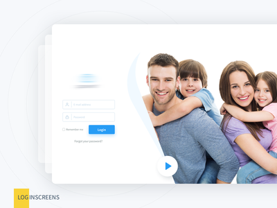 Login Screens web light illustration freebie free flat first shot dropbox download design clean ai