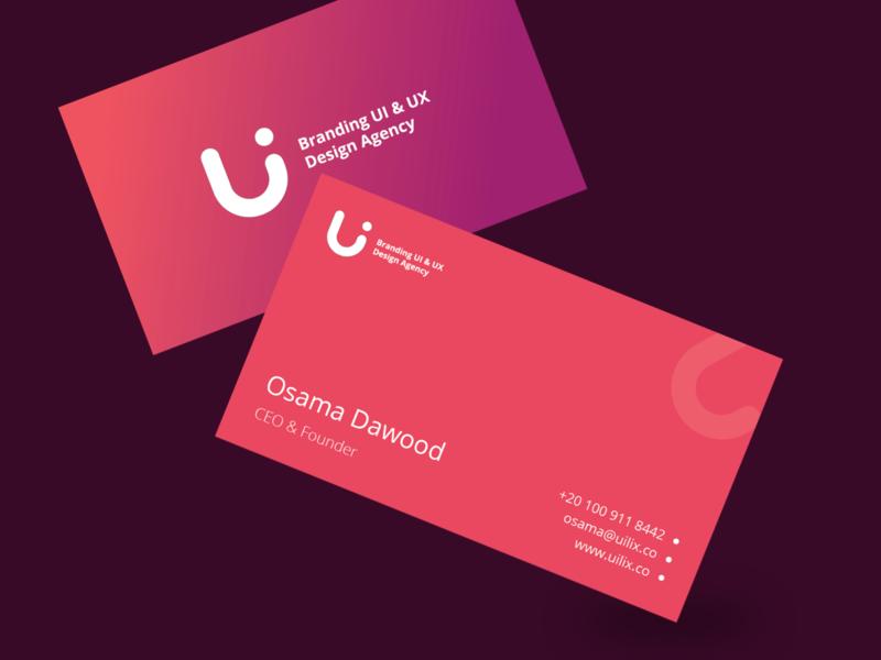 uilix.co Business Cards business logo design business card logo startup corporate ui colorful flat illustration ux design clean