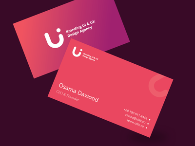 uilix.co Business Cards business logo design business card logo startup corporate ui colorful flat illustration ux design clean