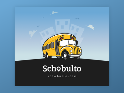 🚌 Schobulto - Website Design startup corporate colorful flat web illustration ux ui design clean