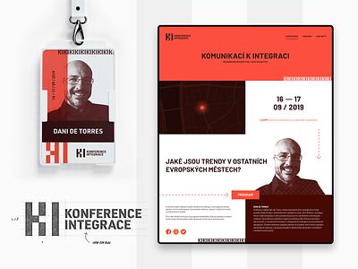 Konference integrace graphic design webdesign web corporate design branding logo ux ui ui design