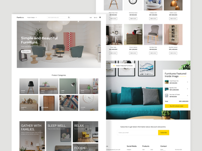 Furniture E-Commerce Exploration shop e-comerce furniture ui  ux uidesign uiuxdesign webdesign