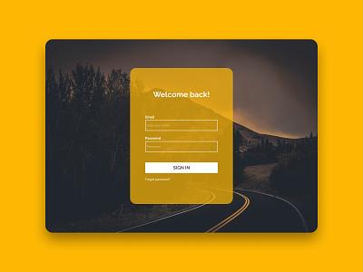 Sign In UI Design freelancer ux designer ui designer login design login login form sign up sign in android app design minimal ios ui design userinterface uxdesign uidesign ux uiux ui