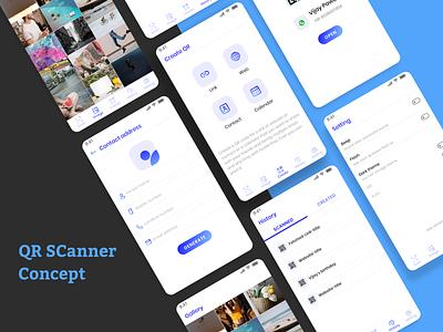 QR Scanner mobile app app minimal ios userinterface android app design ux design ui design uxdesign uidesign uxui ui  ux uiux ux ui qr scanner qr code