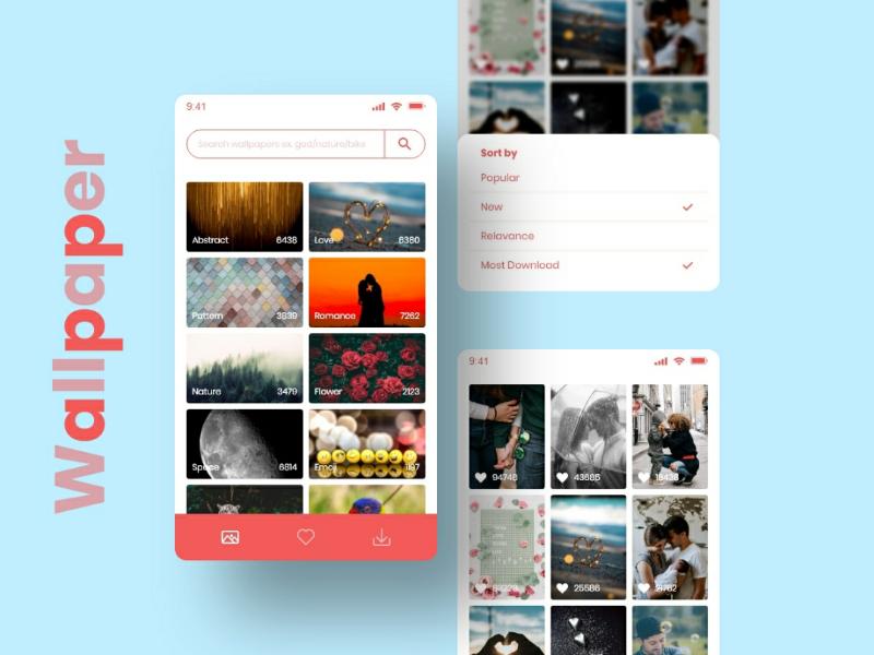 Wallpaper App android ios instagram dribbble app wallpaper uxdesigner uidesigner ux ui