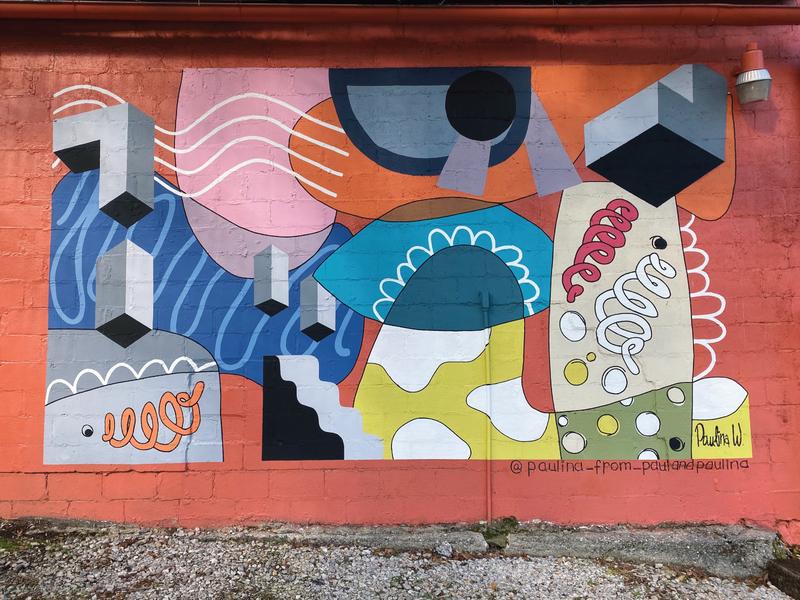 Close Quarters Mural design art mural design muralist 3d abstract art abstract design abstract muralart mural women in illustration shapes design colors illustration