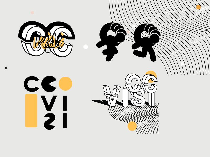 C.C. VISI Logo exploration modern logo linear modernism women in illustration shapes concept design brand identity brand design branding logotype type design typeface type logo design logos