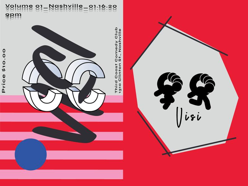 C.C VISI Posters type design type art typeface type modernism logo design logotype branding vector abstract design women in illustration shapes concept design colors illustration poster art poster design poster