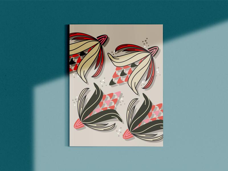 Spring Flora Poster flowers illustration flowers pattern women in illustration shapes design colors illustration