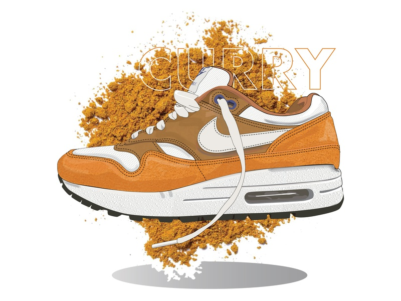 My Ode to The Air Max poster sneakers sneakerhead shadow textures women in illustration vector typography design colors curry air max 1 nike air max nike air max day air max illustration